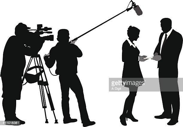 media - film crew stock illustrations