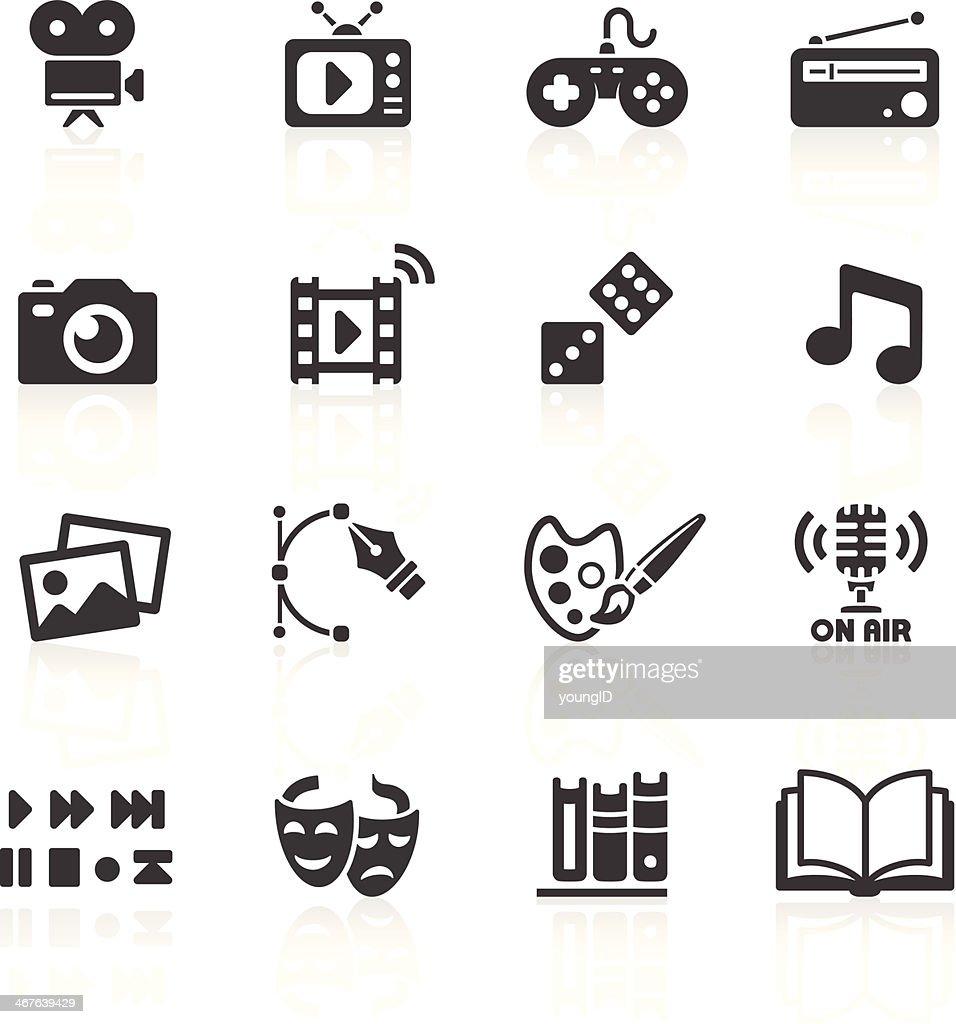 Media Web Icons : stock illustration