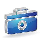 Medic Box 3d Glossy Vector Icon Design