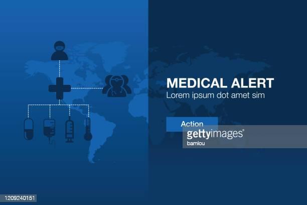 illustrations, cliparts, dessins animés et icônes de medical alert worldwide page web interface - masque africain