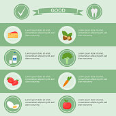 medical dental infographics poster template with