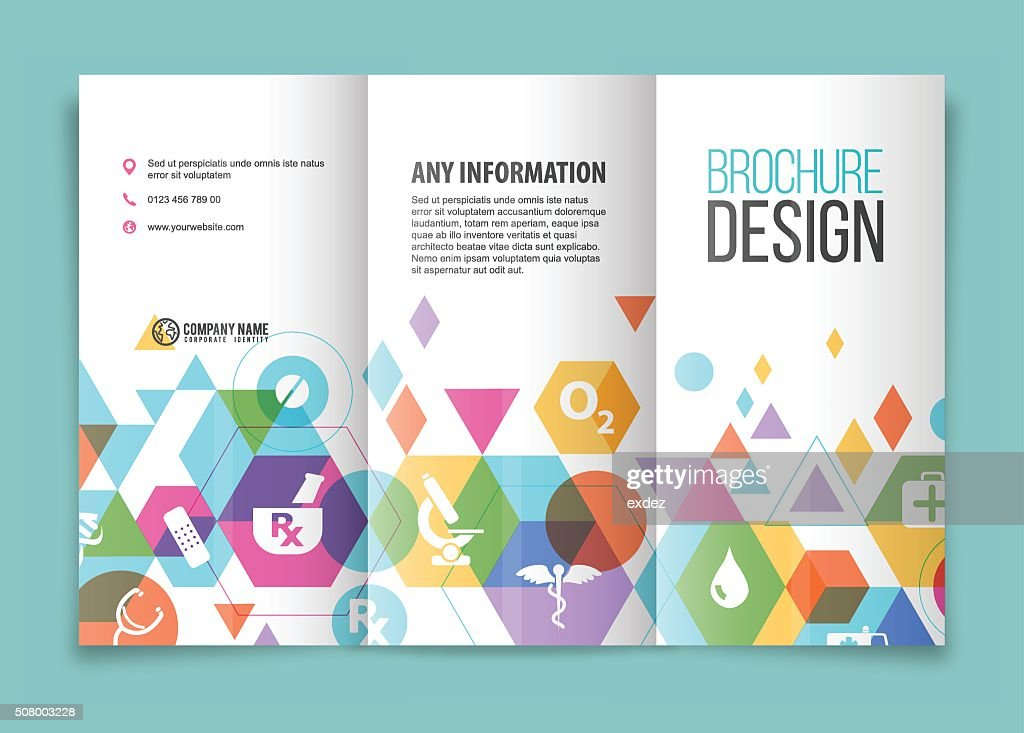 Medical And Healthcare Brochure : Vector Art