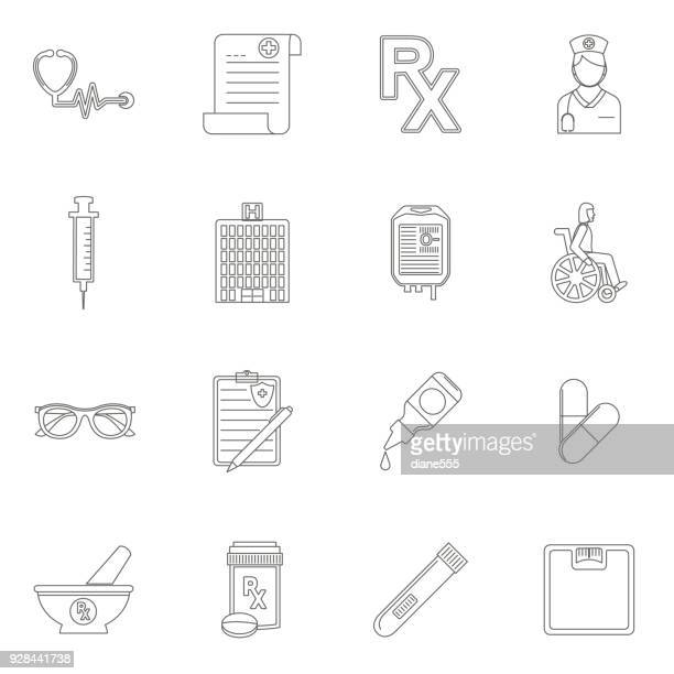 medical and healthcare icon - pipette stock illustrations, clip art, cartoons, & icons