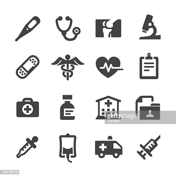 medical and healthcare icons - acme series - first aid stock illustrations