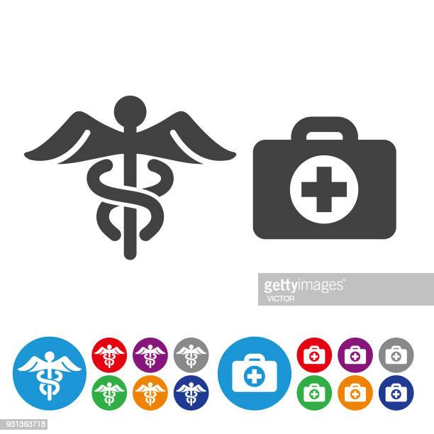 ilustrações, clipart, desenhos animados e ícones de ícones de medicina e saúde - série de gráfico icon - símbolo médico