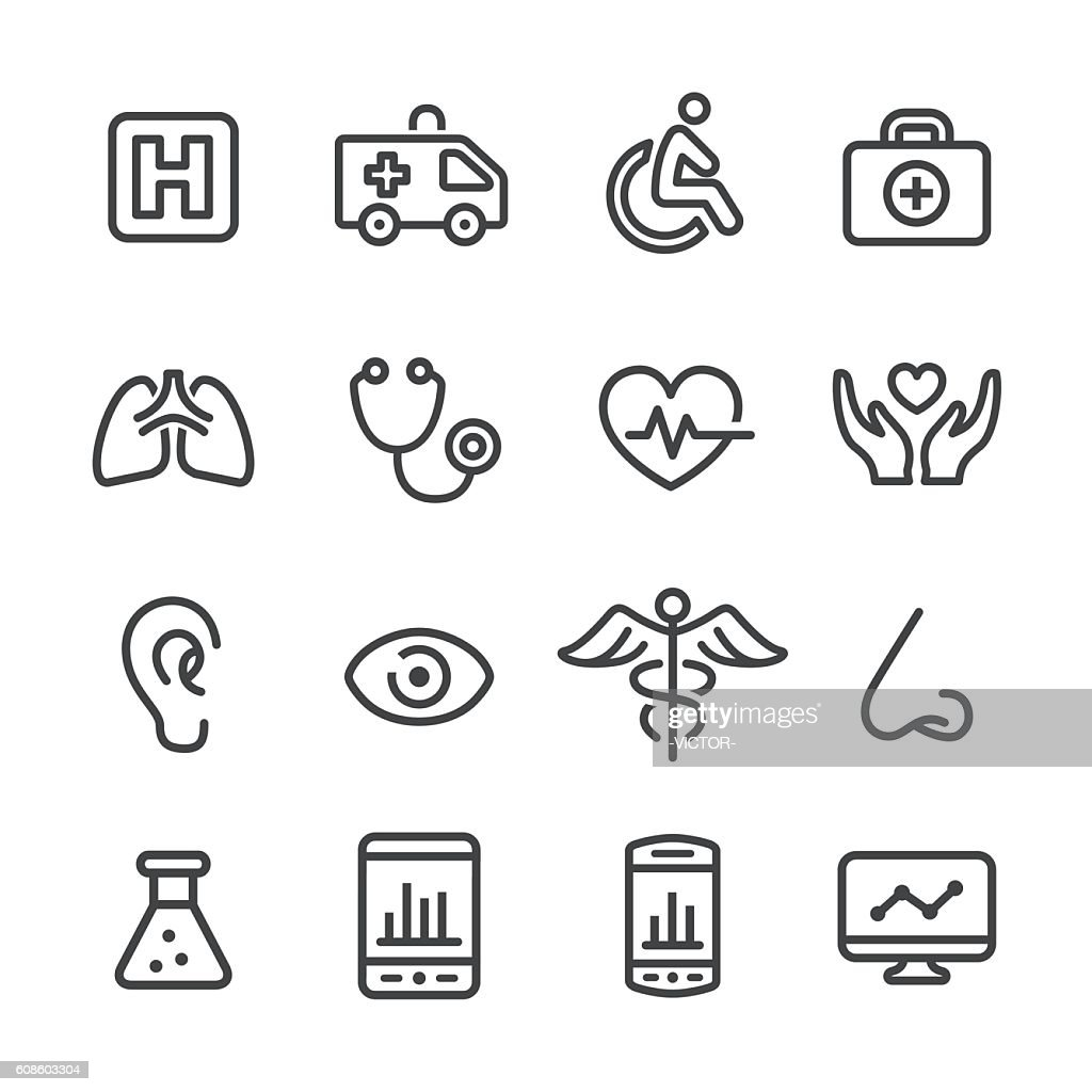 Medical and Healthcare Icons - Line Series : Ilustração
