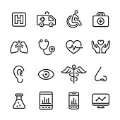 Medical and Healthcare Icons - Line Series