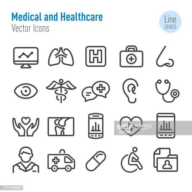 illustrations, cliparts, dessins animés et icônes de médicaux et sanitaires icons - vecteur ligne série - chirurgie esthetique