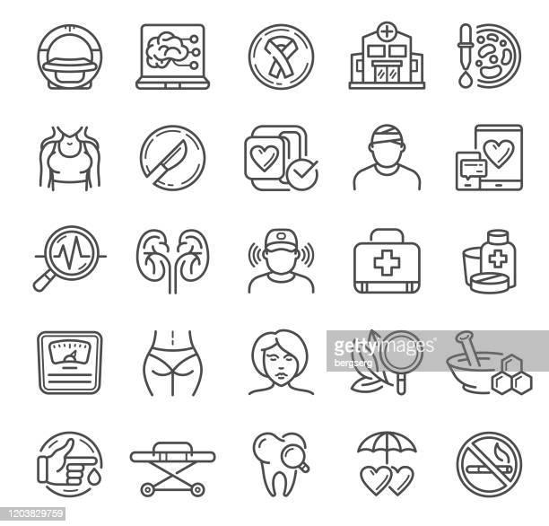 illustrations, cliparts, dessins animés et icônes de icônes médicales et de soins de santé avec le coeur humain, beauté, soins de santé, chirurgie, diagnostic et les organes humains signent - chirurgie esthetique