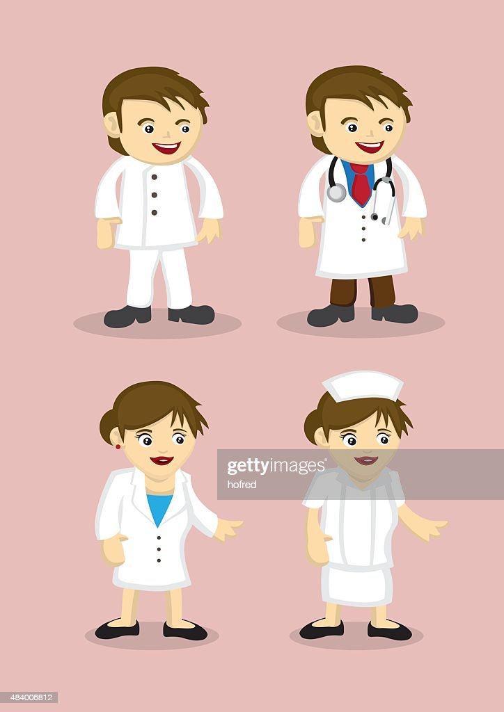 Medical and Healthcare Professionals Vector Icons