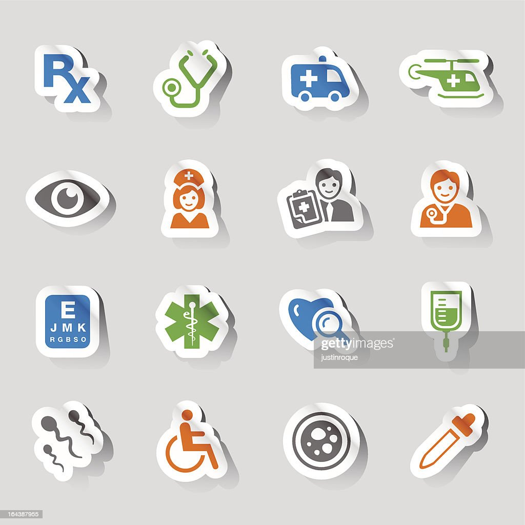 Medical and healthcare related stickers