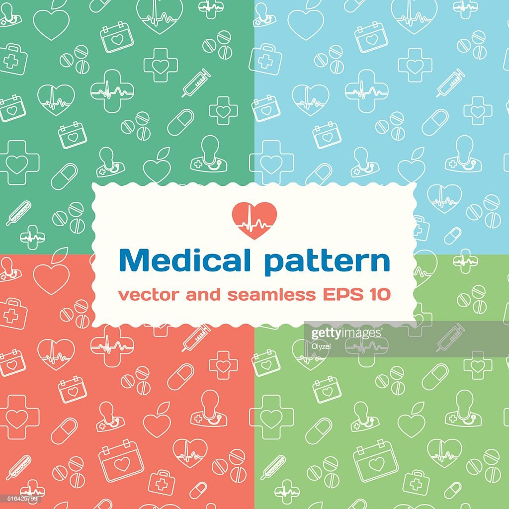 Medical and healthcare stylish seamless pattern background.