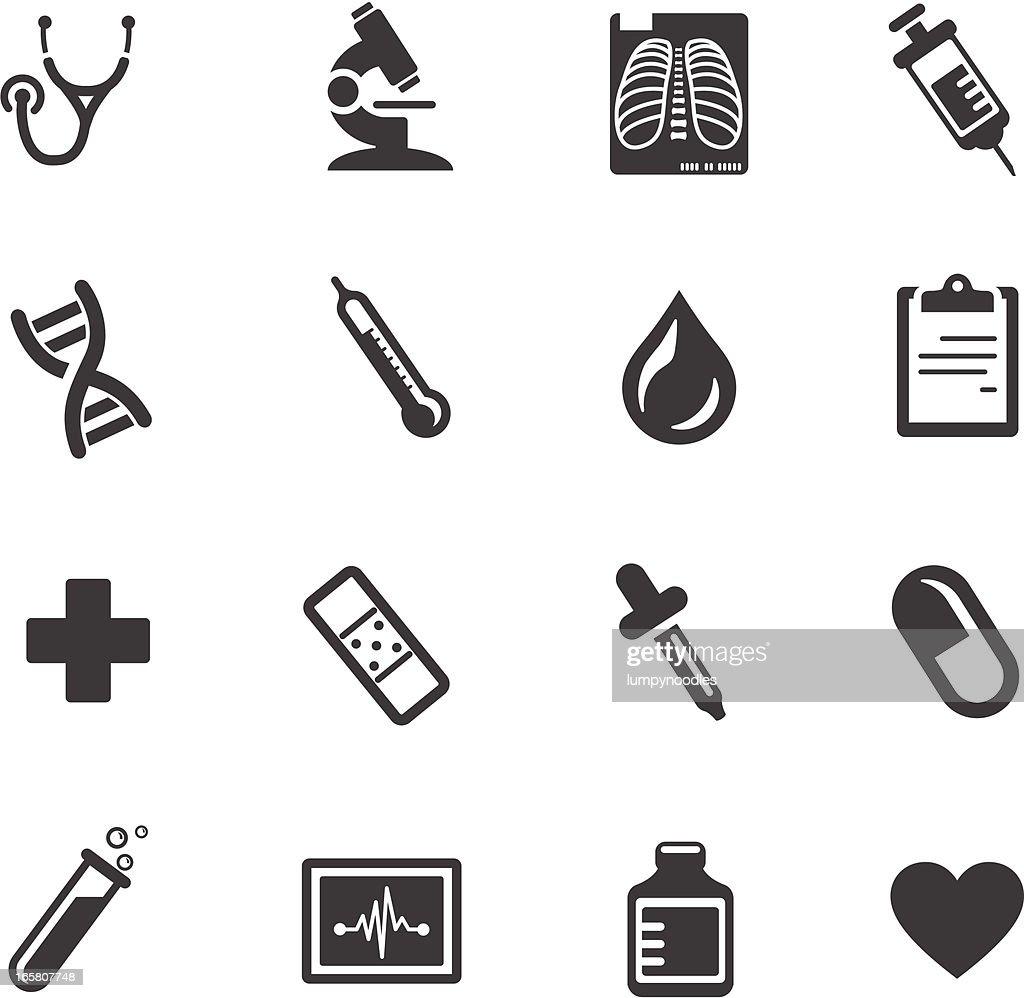 医療とヘルスケアのシンボル : ストックイラストレーション