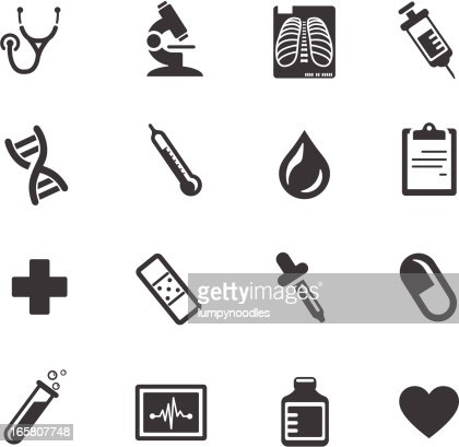 Medical And Healthcare Symbols Vector Art Getty Images