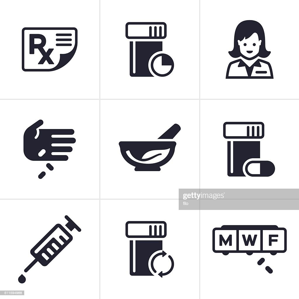 Medical and Pharmacy Icons and Symbols : stock illustration