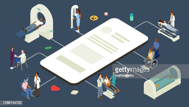 medizinische app-illustration - gafam stock-grafiken, -clipart, -cartoons und -symbole