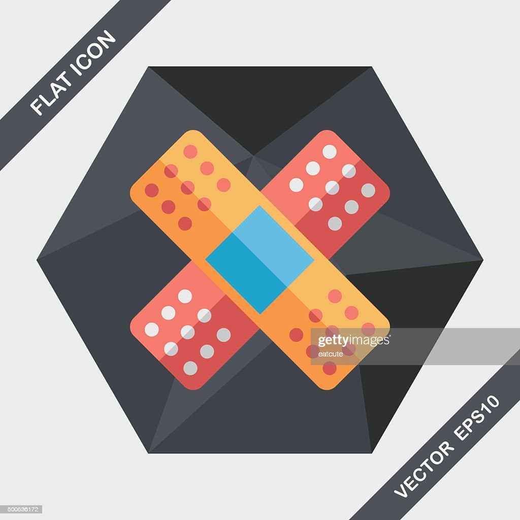 medical bandage flat icon with long shadow,eps10
