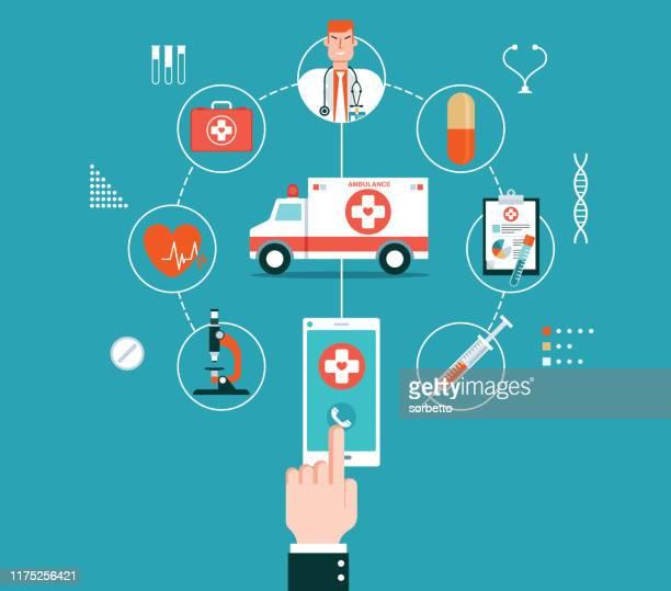 medical banner - ambulance stock illustrations