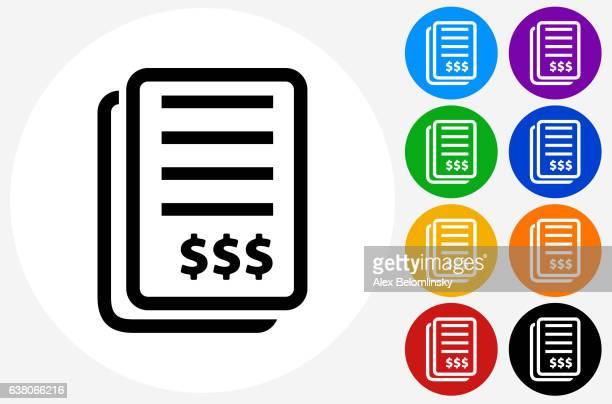 ilustrações, clipart, desenhos animados e ícones de medical bill icon on flat color circle buttons - conta instrumento financeiro