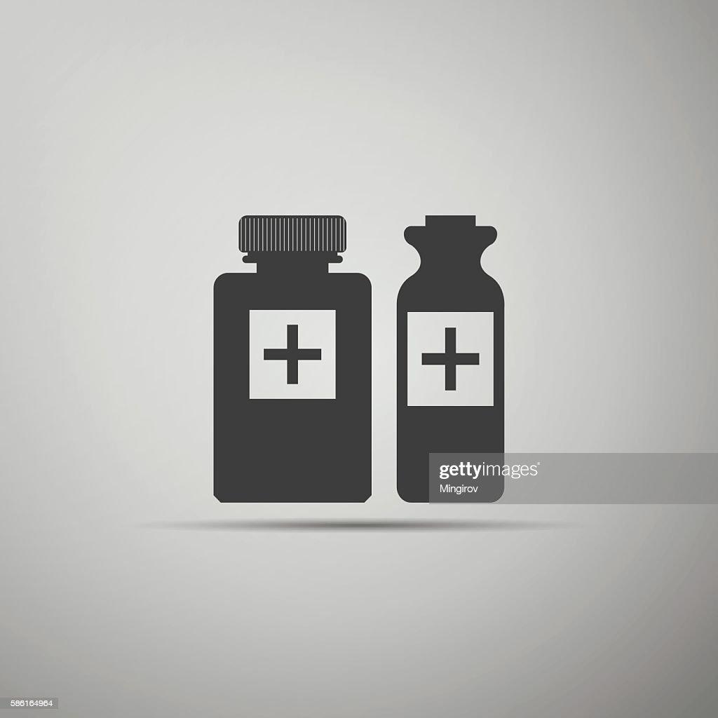Medical bottles icon.