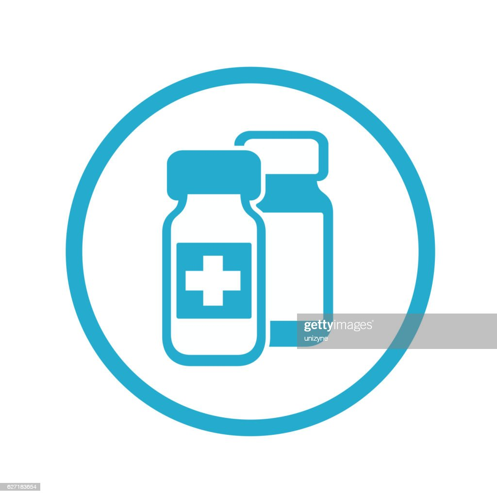 Medical bottles icon