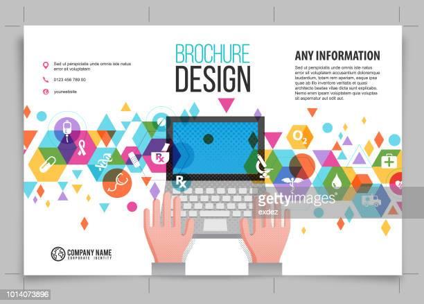 medical brochure design - focus on background stock illustrations