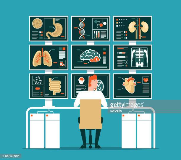medical check - human intestine stock illustrations