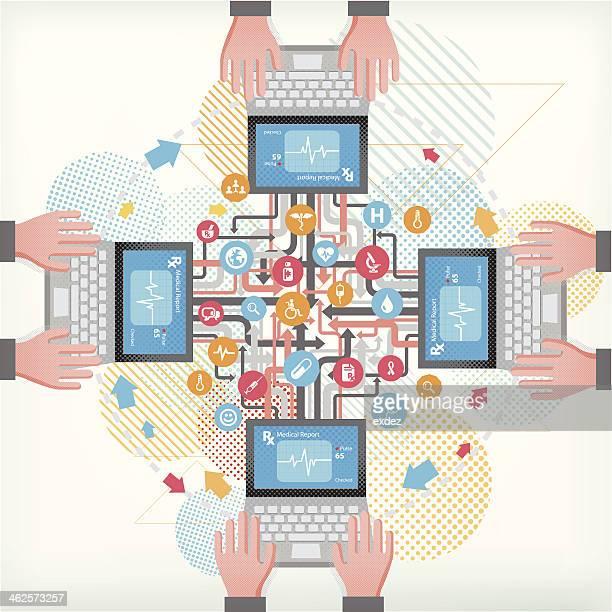 Medical communication network using pc