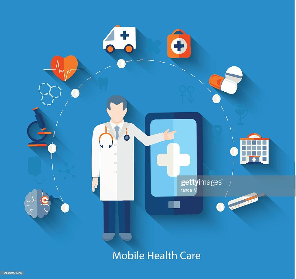 Medical concept icons for web and mobile phone.