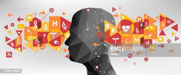 medical concept idea design - human head stock illustrations