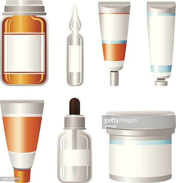 medical container set - pipette stock illustrations, clip art, cartoons, & icons
