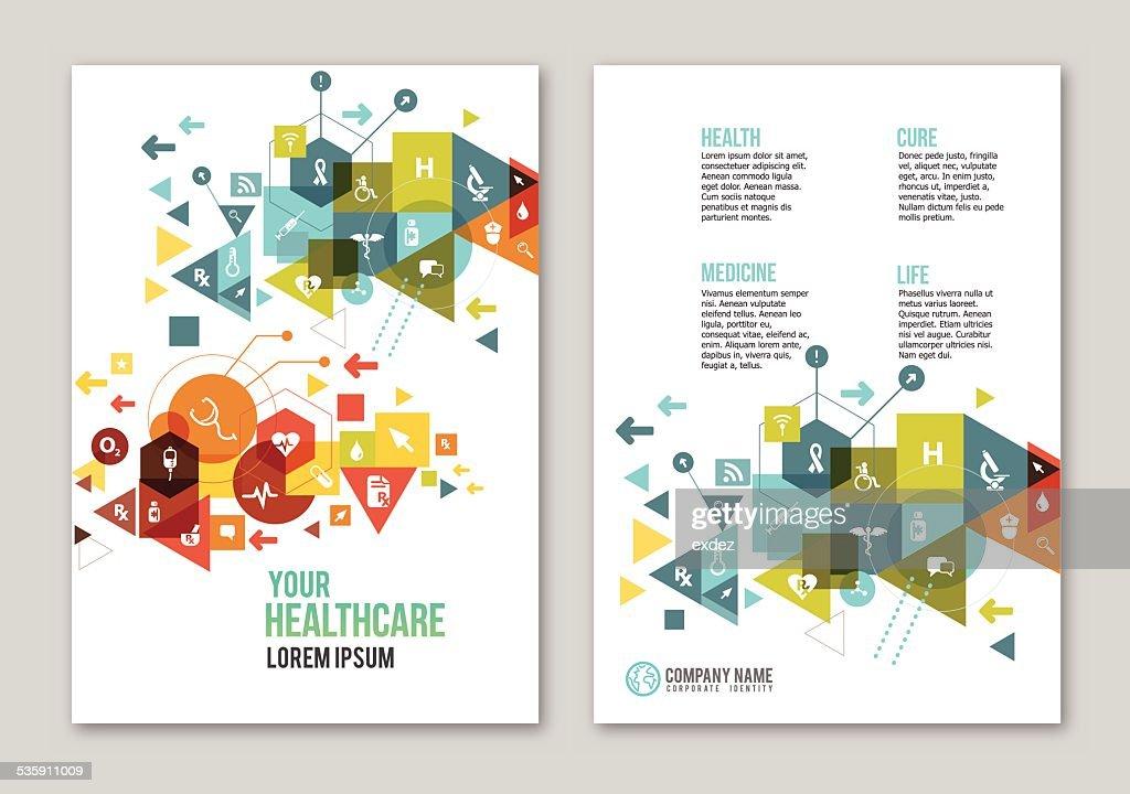 Medizinische design copy space : Vektorgrafik