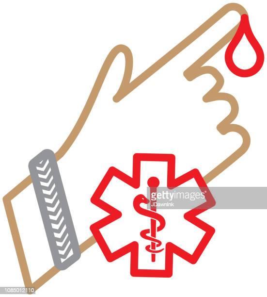 ilustraciones, imágenes clip art, dibujos animados e iconos de stock de manejo de la diabetes médica plana diseño icon set - ilustración - diabetes