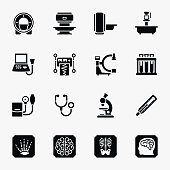 Medical diagnostic vector icons set