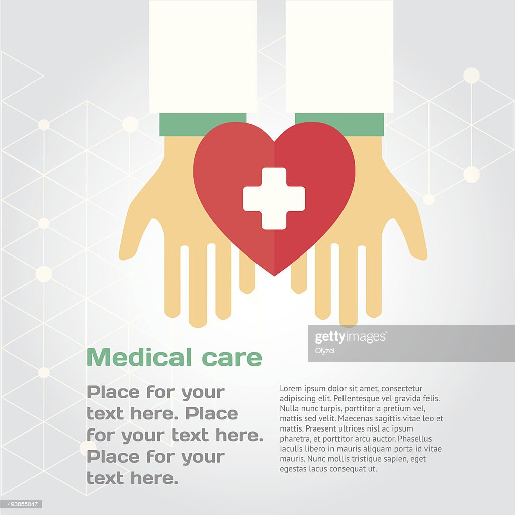 Medical donation. Hands give heart to another