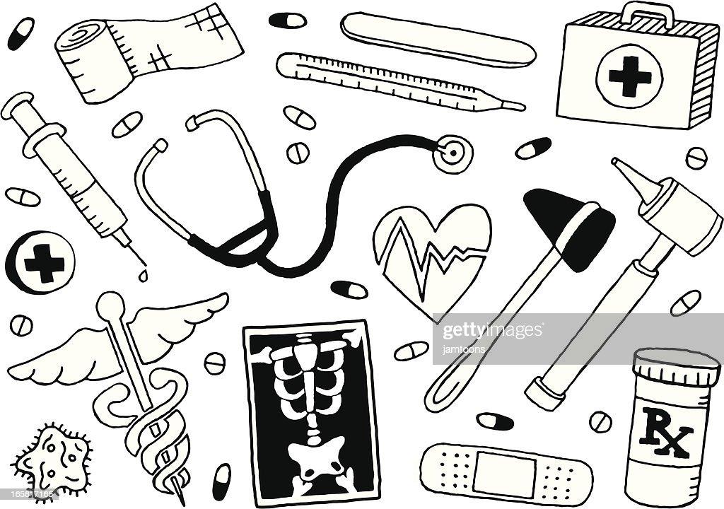Médico e Rabiscos : Ilustração
