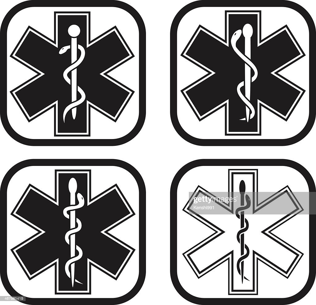 Medical emergency symbol - four variations