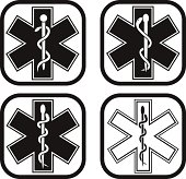 Medical emergency symbol - four variations