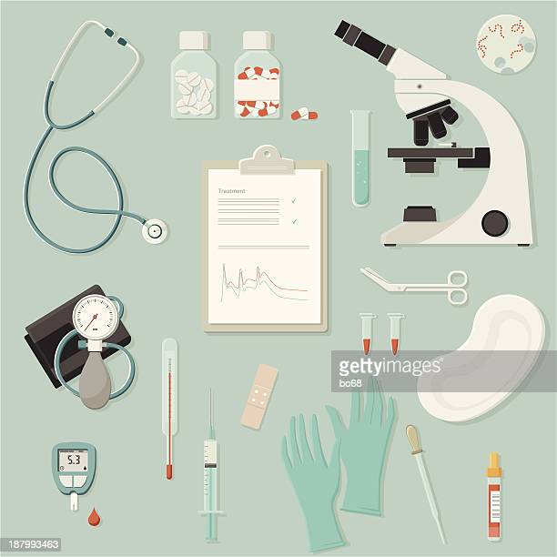 medical equipment and instruments - blood test stock illustrations, clip art, cartoons, & icons