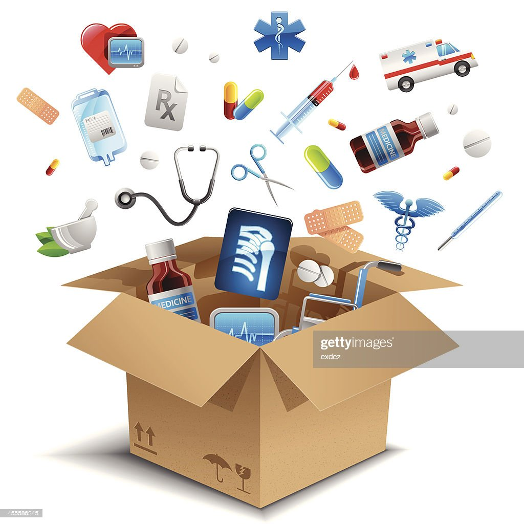 Medical equipment in the box
