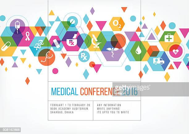 medical event poster design - medical symbol stock illustrations, clip art, cartoons, & icons