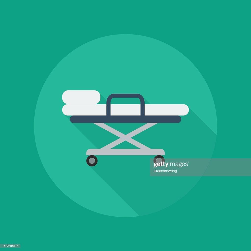 Medical Flat Icon. Stretcher