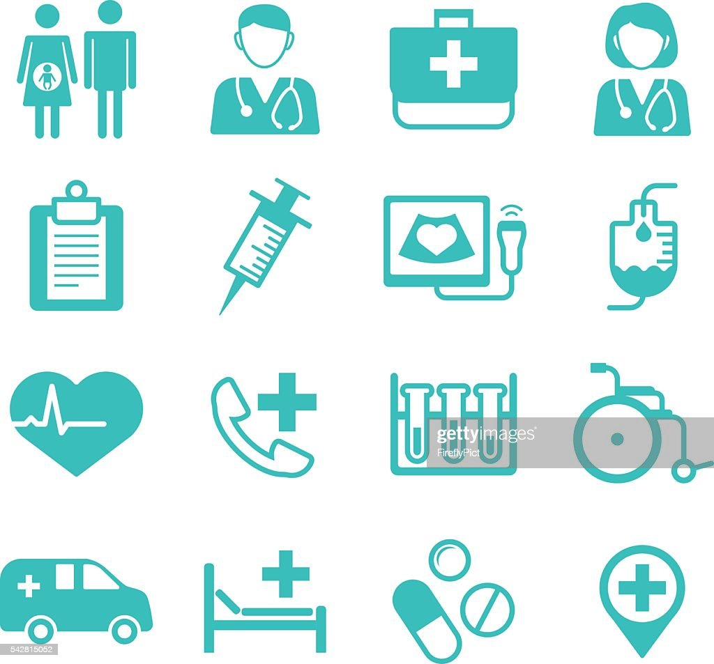 Medical flat Icons, medical logo for web user interface (UI)