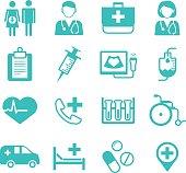 Medical flat Icons, medical logo for web user interface (UI)