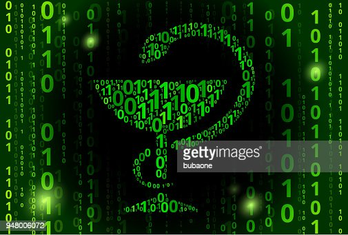 Medical Goblet And Snake Binary Code Vector Pattern Background
