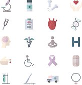 Medical, Health, Fitness and Science Set Of Healthy Icon