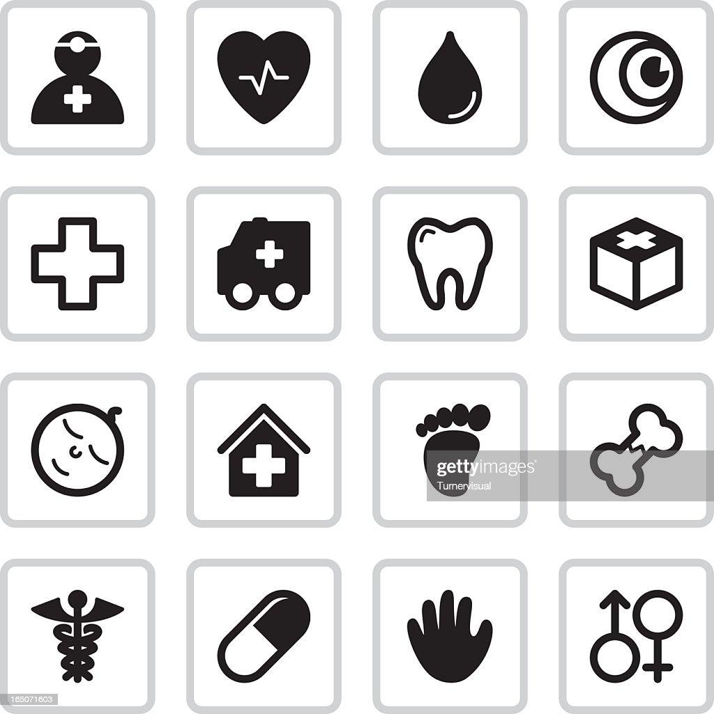 Medical Health Icons | Black : stock illustration