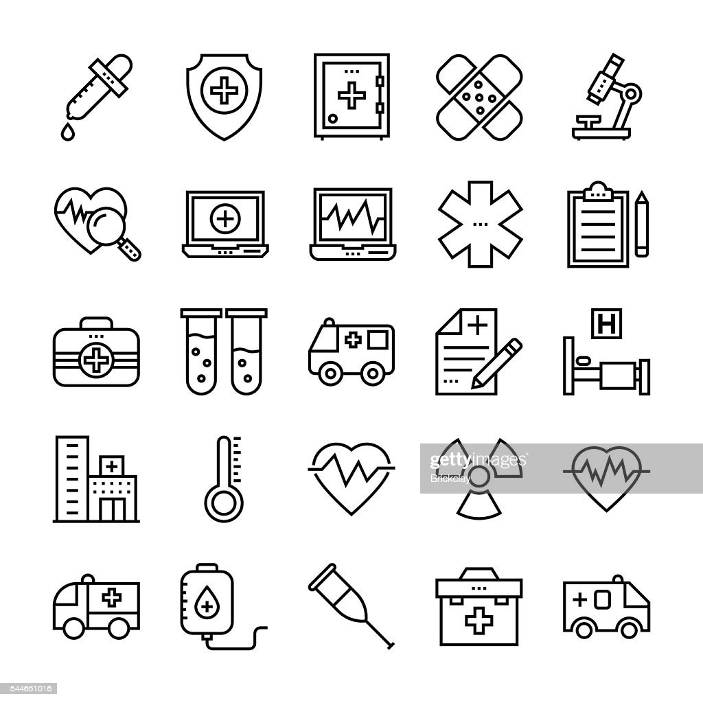 Medical & Health Vector Icons 2