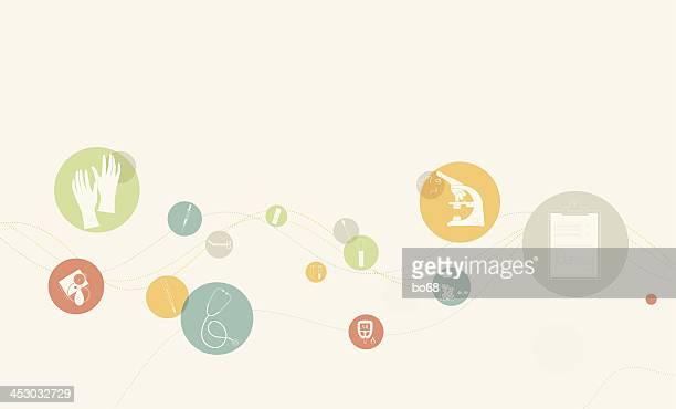 ilustraciones, imágenes clip art, dibujos animados e iconos de stock de fondo con los iconos de la salud clínica - diabetes