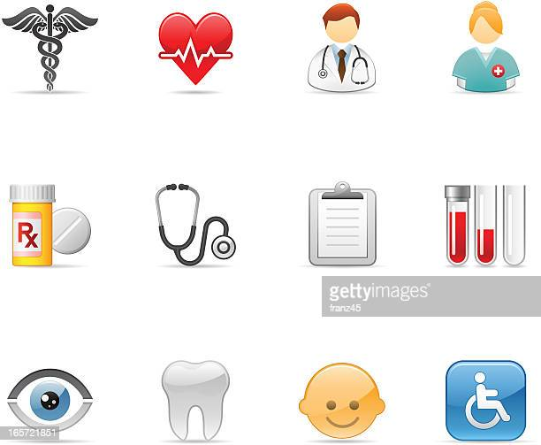 medical healthcare icons - blood test stock illustrations, clip art, cartoons, & icons